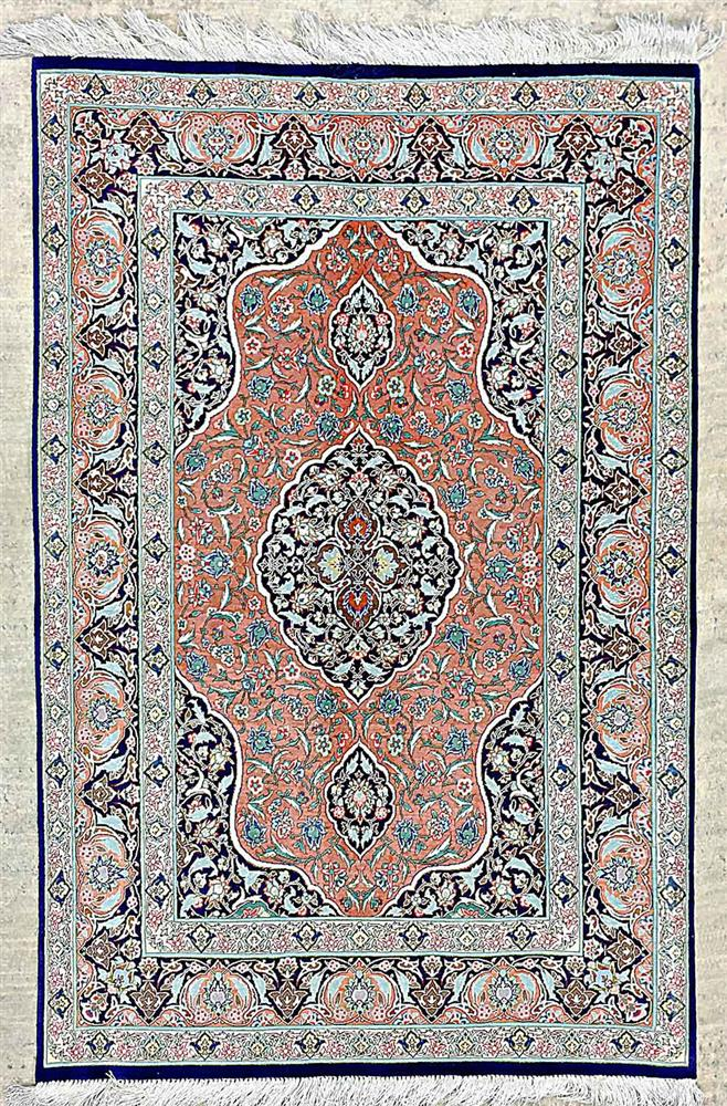 ?Qom silk carpet