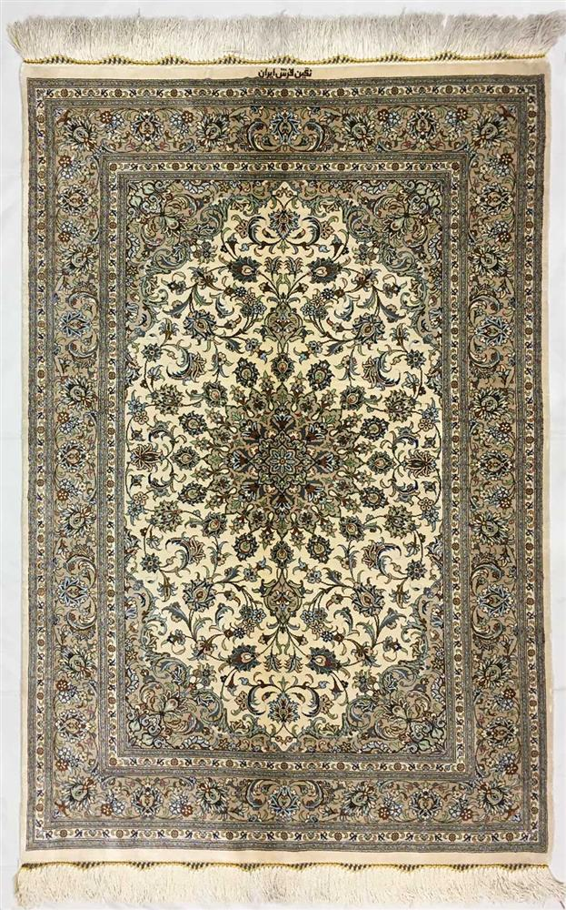 ?Kashan silk carpet